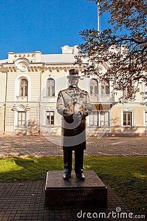 Monument of president Antanas Smetona Editorial Stock Image