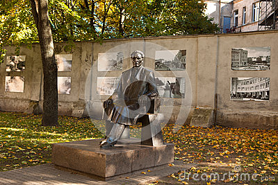 Monument of president Kazys Grinius Editorial Stock Image