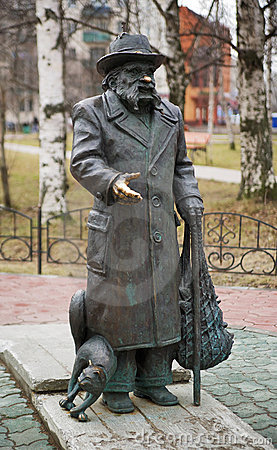 Monument of russian writer Stepan Pisakhov