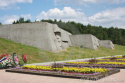 A monument is sacred to great patriotic war