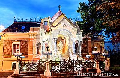 Monument till jungfruliga Mary, Timisoara, Rumänien