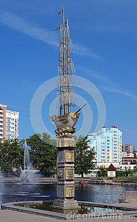 Monument to the 300th anniversary of Lipetsk, Russ