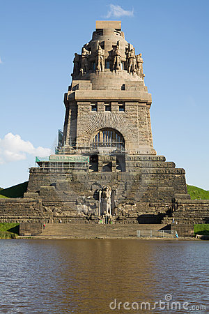 Monument To The Battle Of The Nations In Leipzig Stock