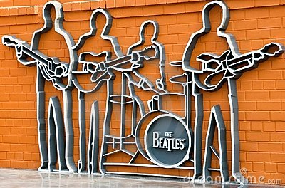 The monument to the Beatles, Ykaterinburg, Russia. Editorial Photography