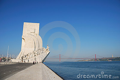 Monument to the Discoveries Editorial Photography