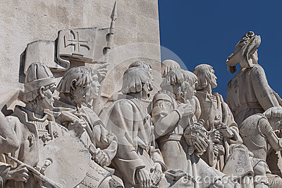 Monument to discoveries lisbon, portugal Editorial Stock Image