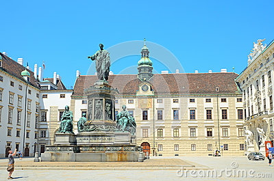 Monument to emperor Franz II in Vienna, Austria. Editorial Stock Image