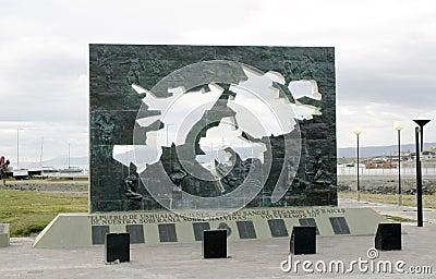 Monument to Falkland islands or Islas Malvinas Editorial Image