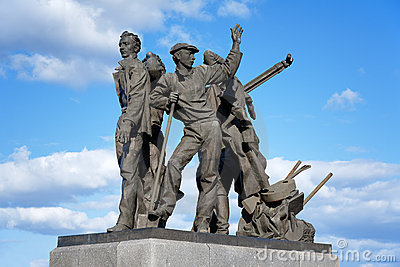 Monument to first builders of Komsomolsk-on-Amur