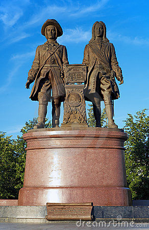Monument to the founders of Yekaterinburg, Russia