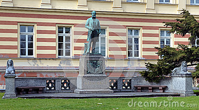 Monument to german chemist August Kekule in Bonn Editorial Stock Photo