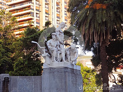 Monument to German immigrants. Editorial Image