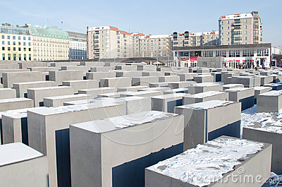 Monument to the Holocaust in Berlin Editorial Stock Image