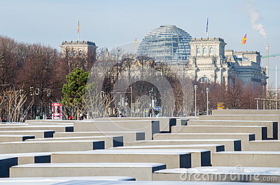 Monument to the Holocaust in Berlin Editorial Photography