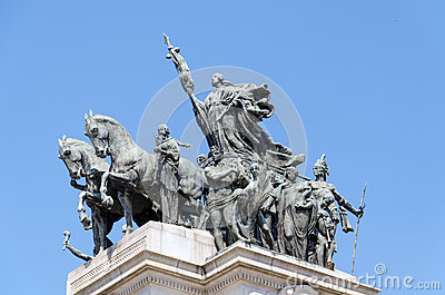 Monument to the Independence of Brazil Stock Photo