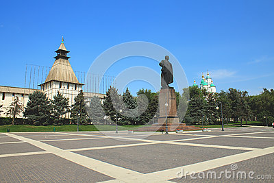 The monument to Lenin in Astrakhan Editorial Stock Photo