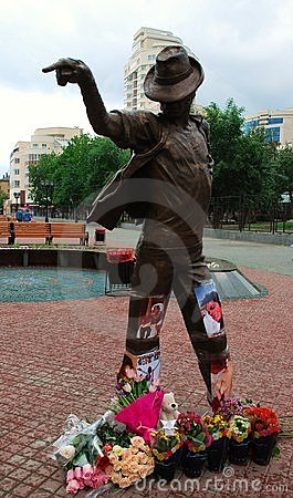 Monument to Michael Jackson. Editorial Stock Photo
