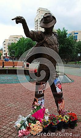 Monument to Michael Jackson. Editorial Stock Photo