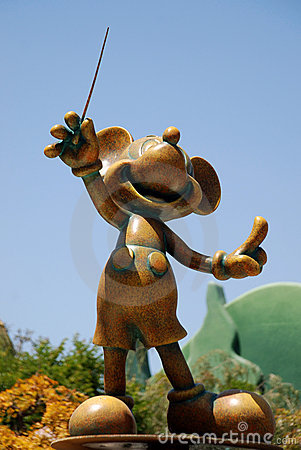 Monument to mickey mouse in disneyland california Editorial Stock Image