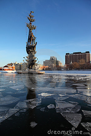 Free Monument To Peter Great On Moskva River Stock Photography - 20570922
