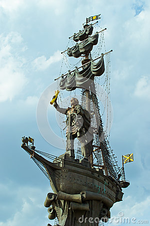 Free Monument To Peter The Great Royalty Free Stock Photography - 43683137