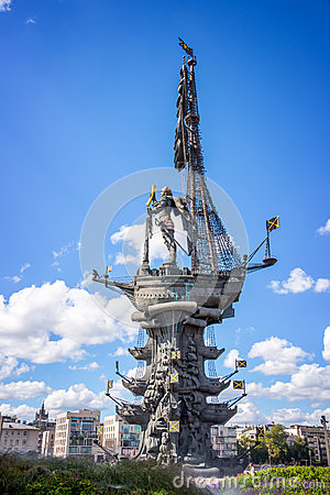 Free Monument To Peter The Great, Moscow, Russia Stock Photo - 77602610