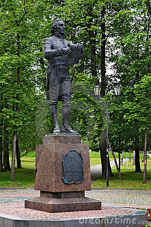 Monument to the russian poet Gavrila Derzhavin Editorial Stock Photo