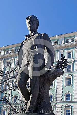 Free Monument To Russian Poet Sergei Yesenin In Moscow Stock Photo - 105280010