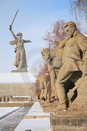 Free Monument To Russian Soldiers In Volgograd Stock Photo - 4865340