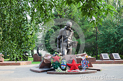Monument to the soldiers who were lost in local wars of the twentieth century.