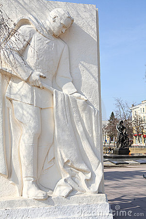 Monument to Soviet soldier in Belgorod