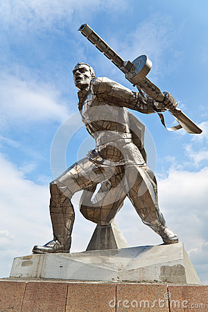Monument to soviet soldier in New Odessa, Ukraine