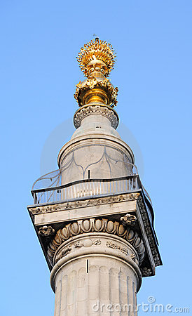 Free Monument To The Great Fire Of London, England, UK Royalty Free Stock Photos - 9629478