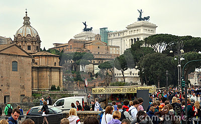 Monument To Victor Emmanuel II Rome Italy Editorial Stock Image