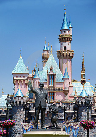 Monument to walt disney and mickey mouse Editorial Image
