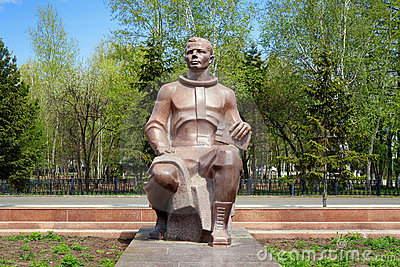 Monument to Yuri Gagarin in Komsomolsk-on-Amur