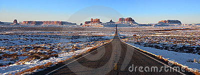 Monument Valley Approach Panorama, Panoramic