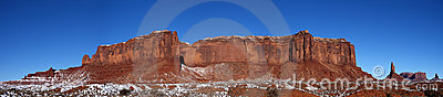 Monument Valley Panorama Ridge, Mountains, Snow