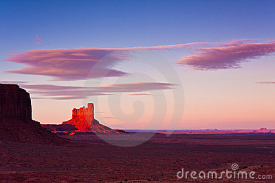 Monument Valley Pinnacle at Sunset