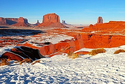 Monument Valley in the snow
