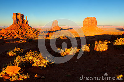 Monument Valley in sunset