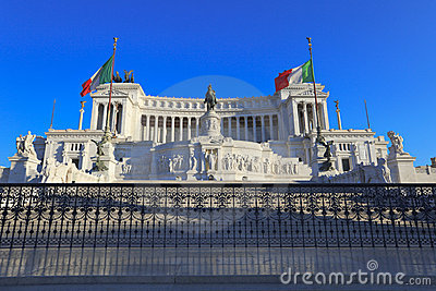 Monument of Victor Emmanuel II, Rome, Italy.