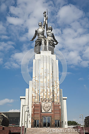 Free Monument Worker And Kolkhoz Woman Royalty Free Stock Photo - 26515215