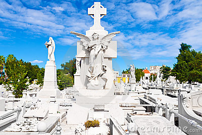 The monumental Colon cemetery in Havana