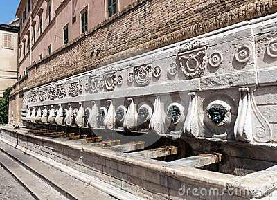Monumental fountain of Calamo