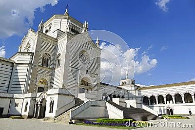 Monumental kyrkogård Milan Italy