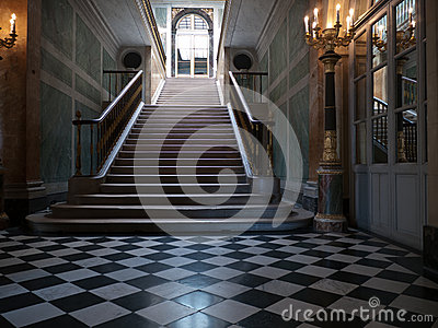 Monumental stairs in a palace