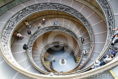Monumental Stairs of the Vatican Museum Editorial Stock Photo