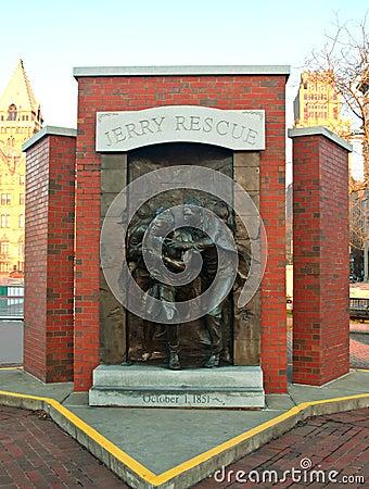 Monumento del rescate de Jerry en Syracuse, Nueva York Foto de archivo editorial