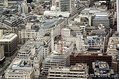 Monumento, città della vista aerea di Londra